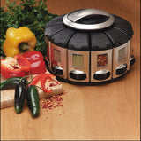 Auto­-Measure Automatic Spice Dispenser Organizer Carousel without Spices