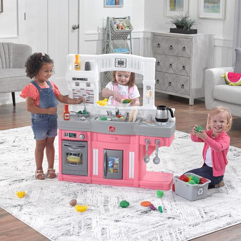 Pretend Play Step2 Complete Interactive Toy Pink Kitchen Playset w Lights Sounds