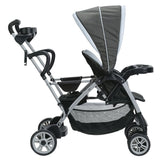 Graco Gray Baby, Infant Double Twin Stroller Travel System with 2 Infant Car Seats