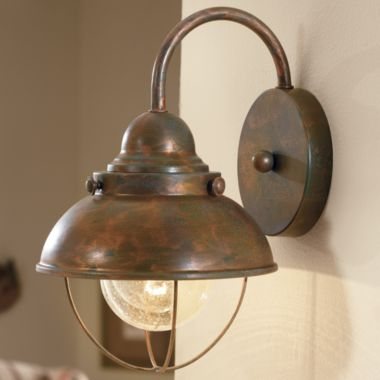 Unique Lodge Rustic Country Western Copper, Bronze Lighting, Wall Sconce Light Fixture
