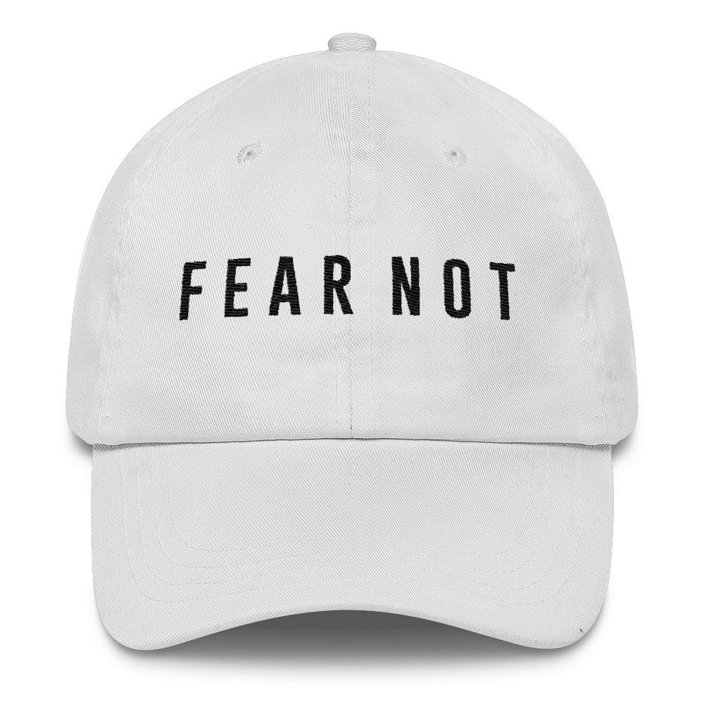 53f7c11b1e4 Fear Not (White) - Hat – Inspire Now