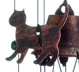 "26"" Bronze Cats Wind Chimes - Yolis Beauty Barn"