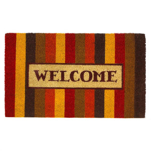 Autumn Striped Welcome Mat - Yolis Beauty Barn