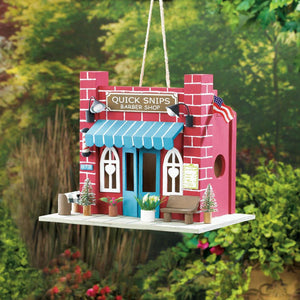 Barber Shop Birdhouse - Yolis Beauty Barn