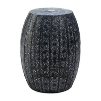 Black Moroccan Lace Stool - Yolis Beauty Barn