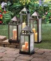 Brushed Silver Extra Tall Lantern - Yolis Beauty Barn