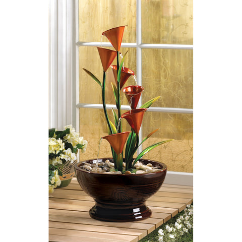 Calla Lily Water Fountain