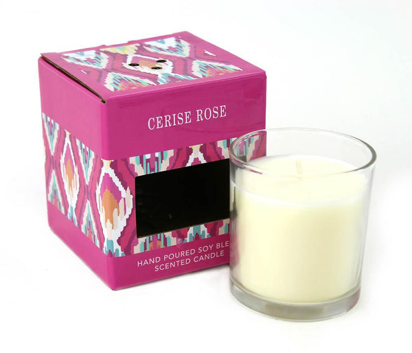 Cerise Rose Scented Candle - Yolis Beauty Barn