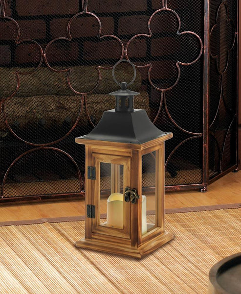 Classic Square Lantern With Led Candle