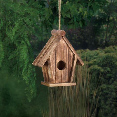 Classic Rustic Wood Birdhouse - Yolis Beauty Barn