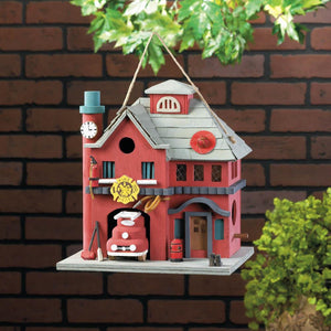 Fire Station Birdhouse - Yolis Beauty Barn