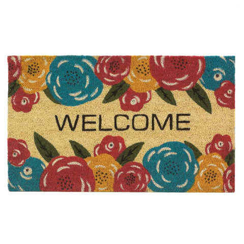 Floral Welcome Mat - Yolis Beauty Barn