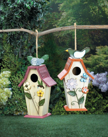 Flower Birdie Birdhouse - Yolis Beauty Barn