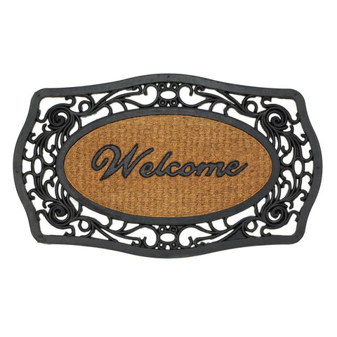Frill Framed Welcome Entry Mat (Rounded)