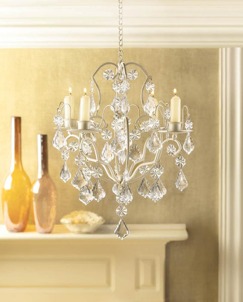 Ivory Baroque Chandelier - Yolis Beauty Barn