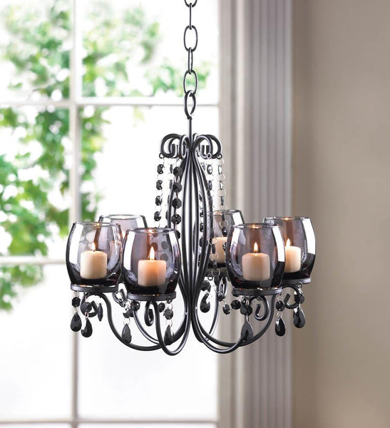 Midnight Elegance Chandelier - Yolis Beauty Barn