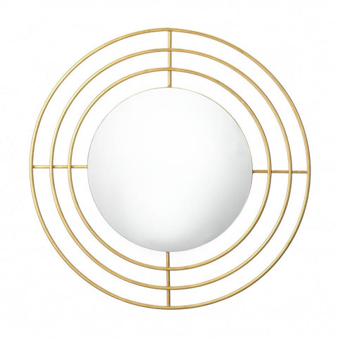 Modern Gold Wall Mirror - Yolis Beauty Barn