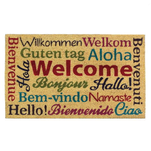 Multi-Lingual Welcome Mat - Yolis Beauty Barn