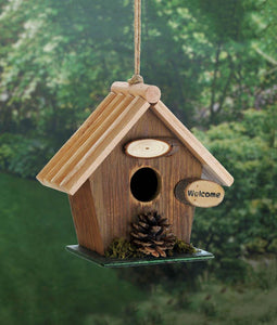 Pine Cone Rustic Wood Birdhouse - Yolis Beauty Barn