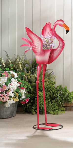 Ready To Fly Flamingo Planter