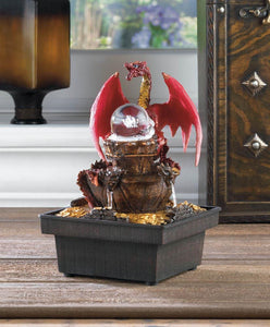 Red Dragon Tabletop Water Fountain - Yolis Beauty Barn
