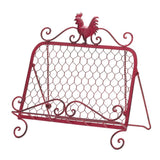Red rooster Cookbook Stand - Yolis Beauty Barn