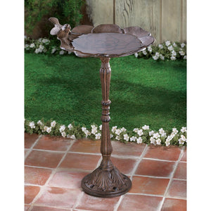 Rustic Iron Birdbath - Yolis Beauty Barn