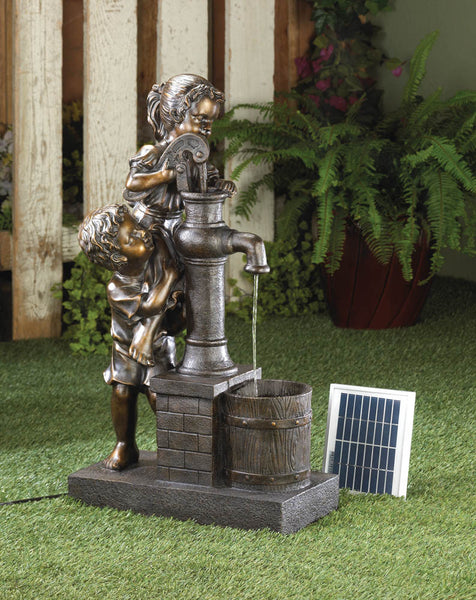 Teamwork Solar Pump Powered Fountain