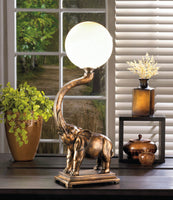 Trumpeting Elephant Lamp