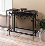 Umber Wicker Nesting Tables