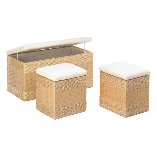 Woven Natural Nesting Storage Trunks - Yolis Beauty Barn