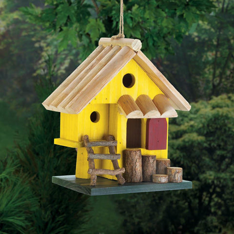 Yellow Tree Fort Birdhouse - Yolis Beauty Barn