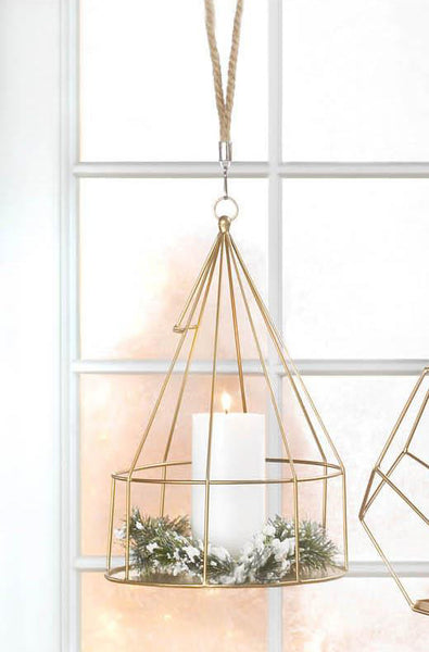 Hanging Plant Holder with Round Base