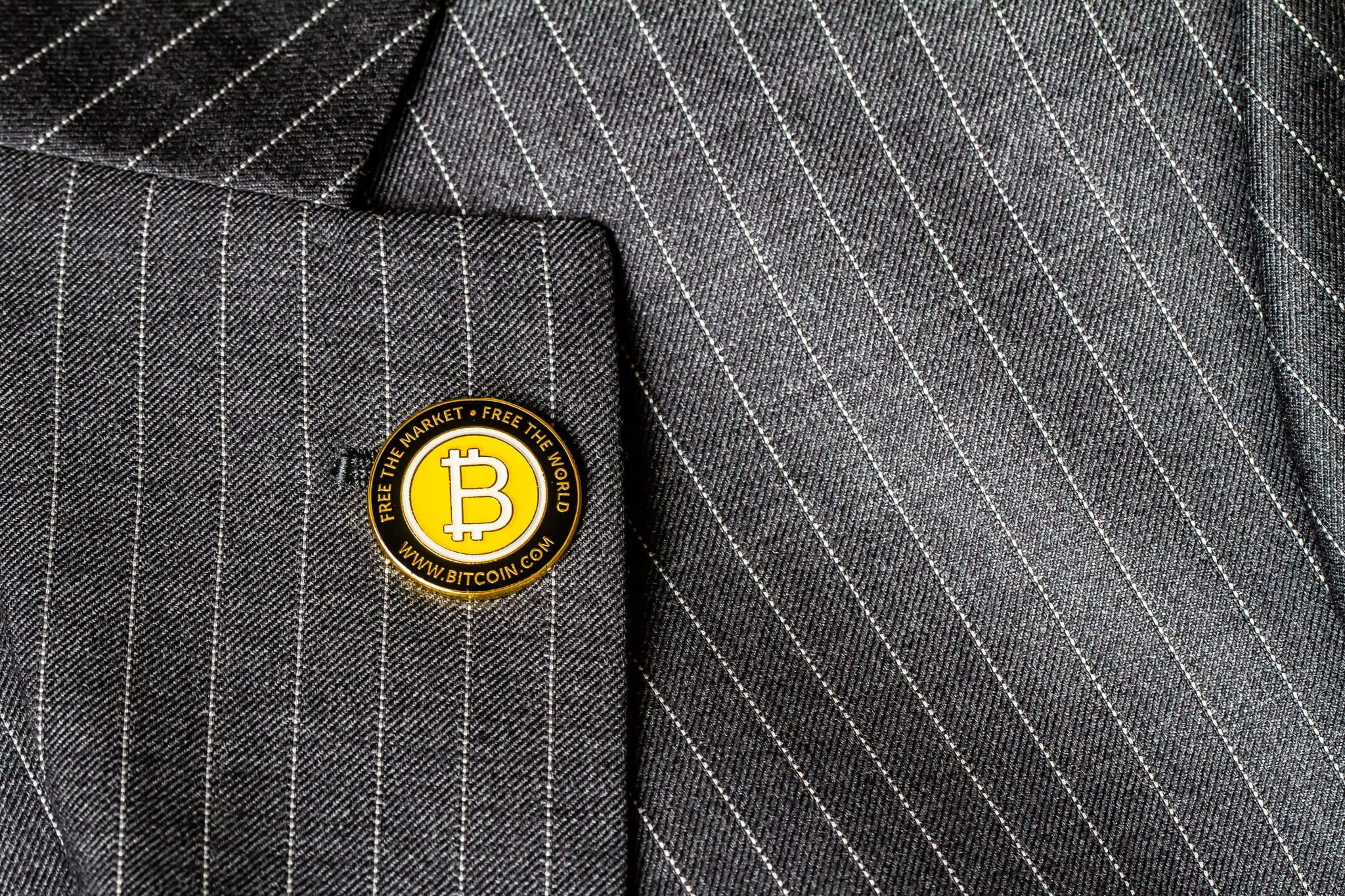 Single Bitcoin Pin