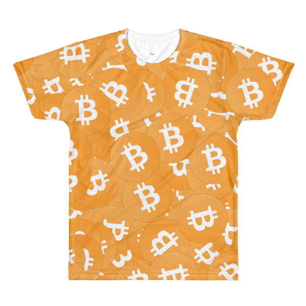 Bitcoin All-Over in Orange Tee