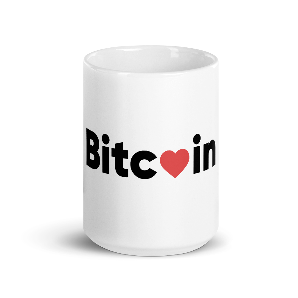 Bitcoin x LOVE Mug - Buy Products with Cryptocurrency