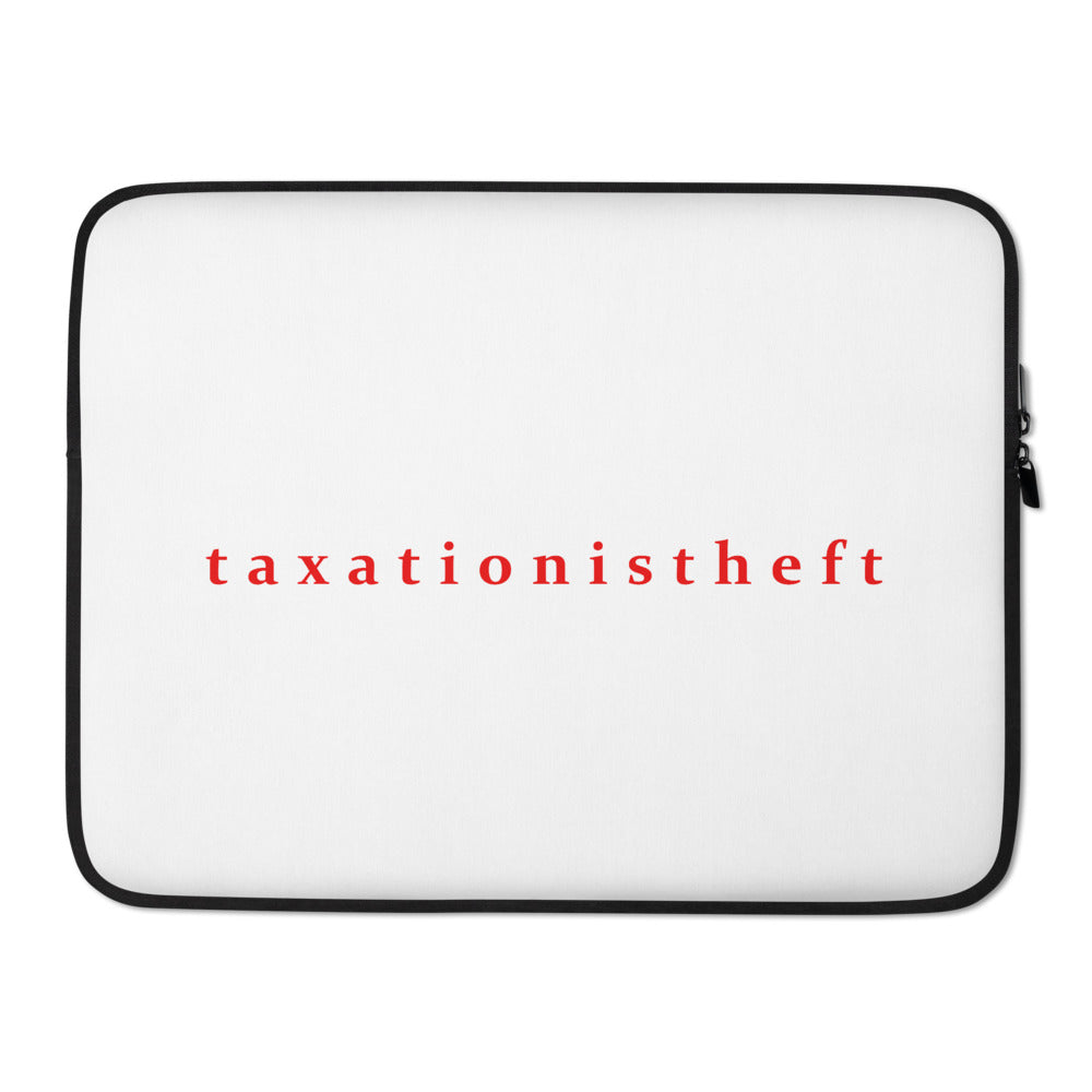 Taxationistheft Sleeve, white - Buy Products with Cryptocurrency
