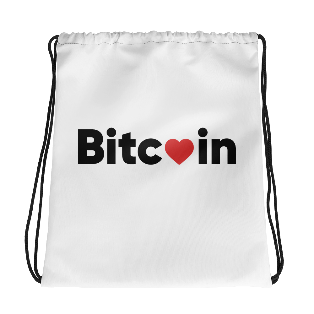 Bitcoin X LOVE Drawstring bag - Buy Products with Cryptocurrency