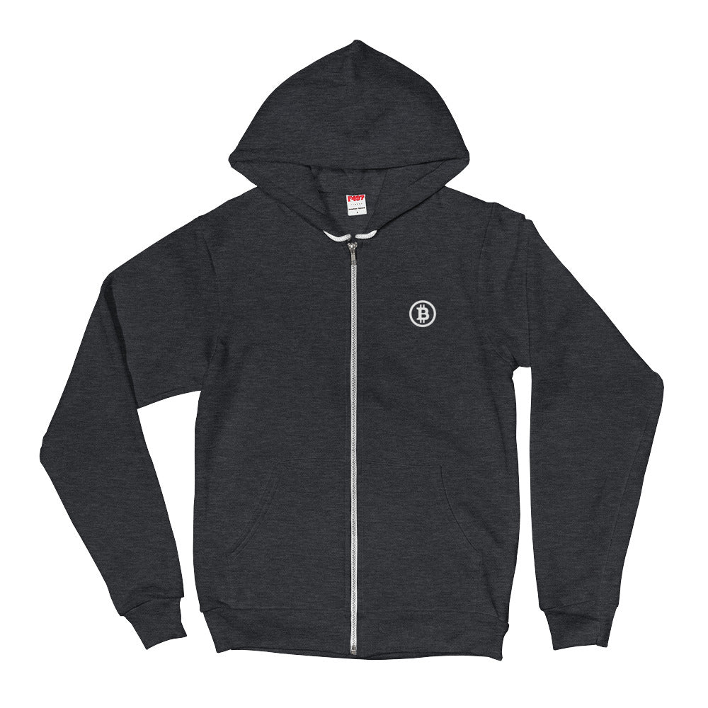 Bitcoin Zip Hoodie - Buy Products with Cryptocurrency