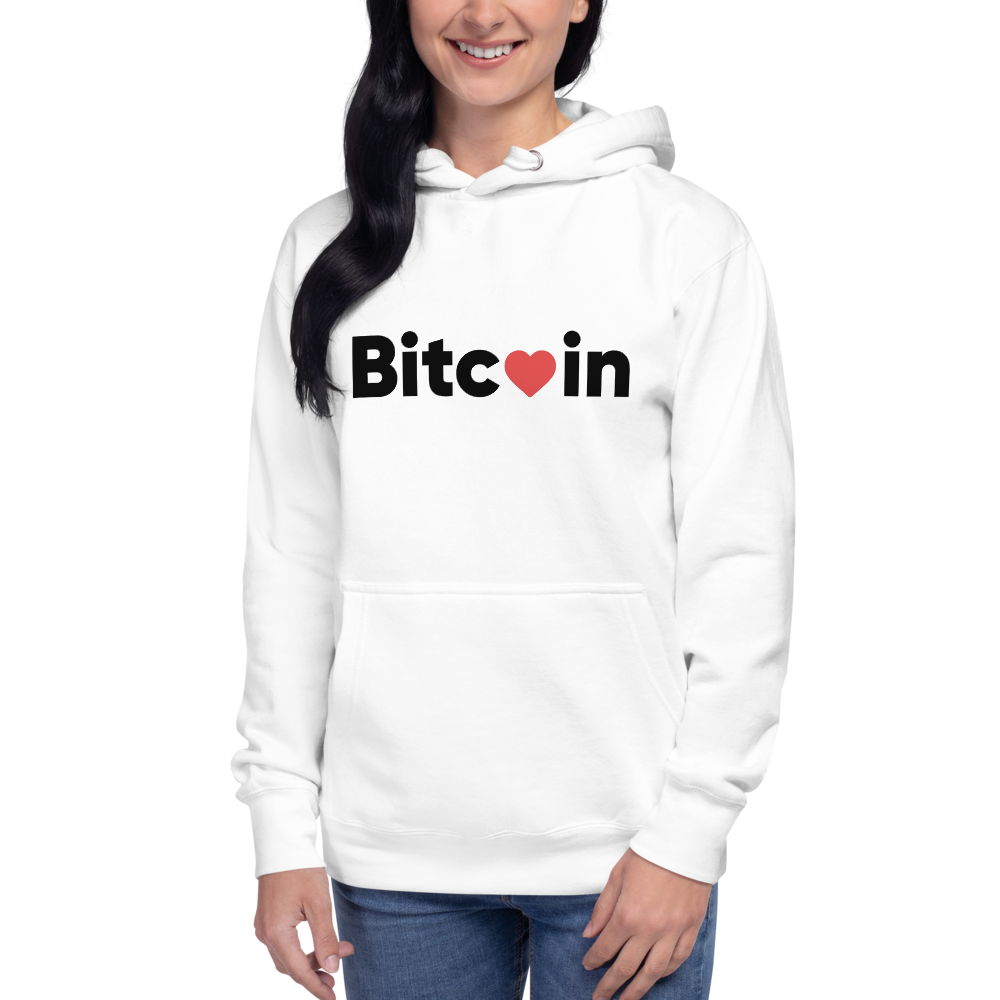 Bitcoin x LOVE Women's Hoodie - Buy Products with Cryptocurrency