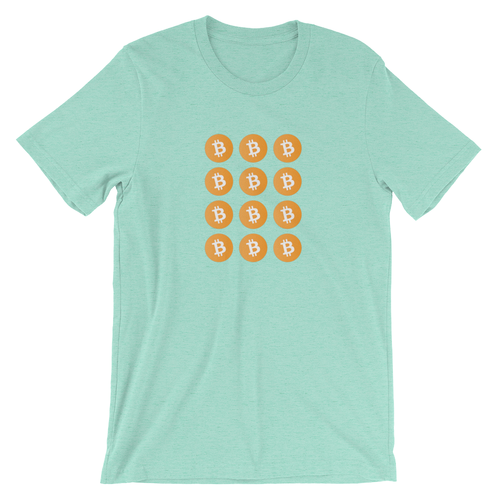 Orange Coin Grid Tee