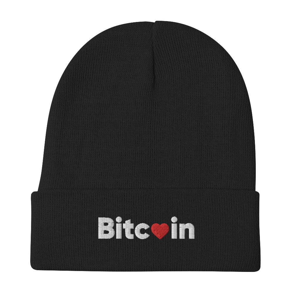 Bitcoin x LOVE Embroidered Beanie