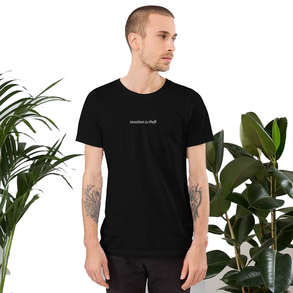 Taxation is Theft Black Tee