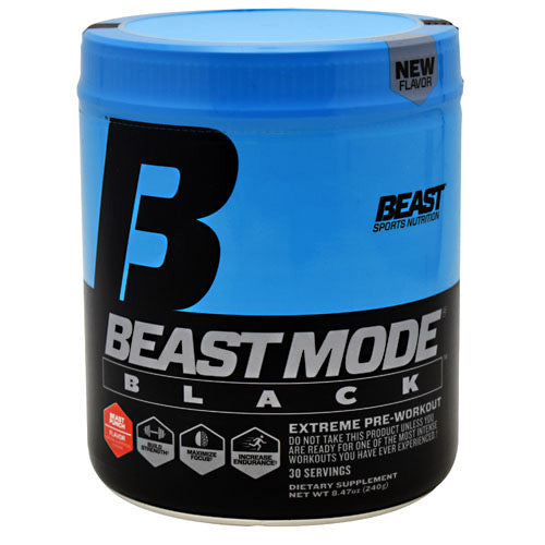 Beast Sports Nutrition Black Beast Mode Black