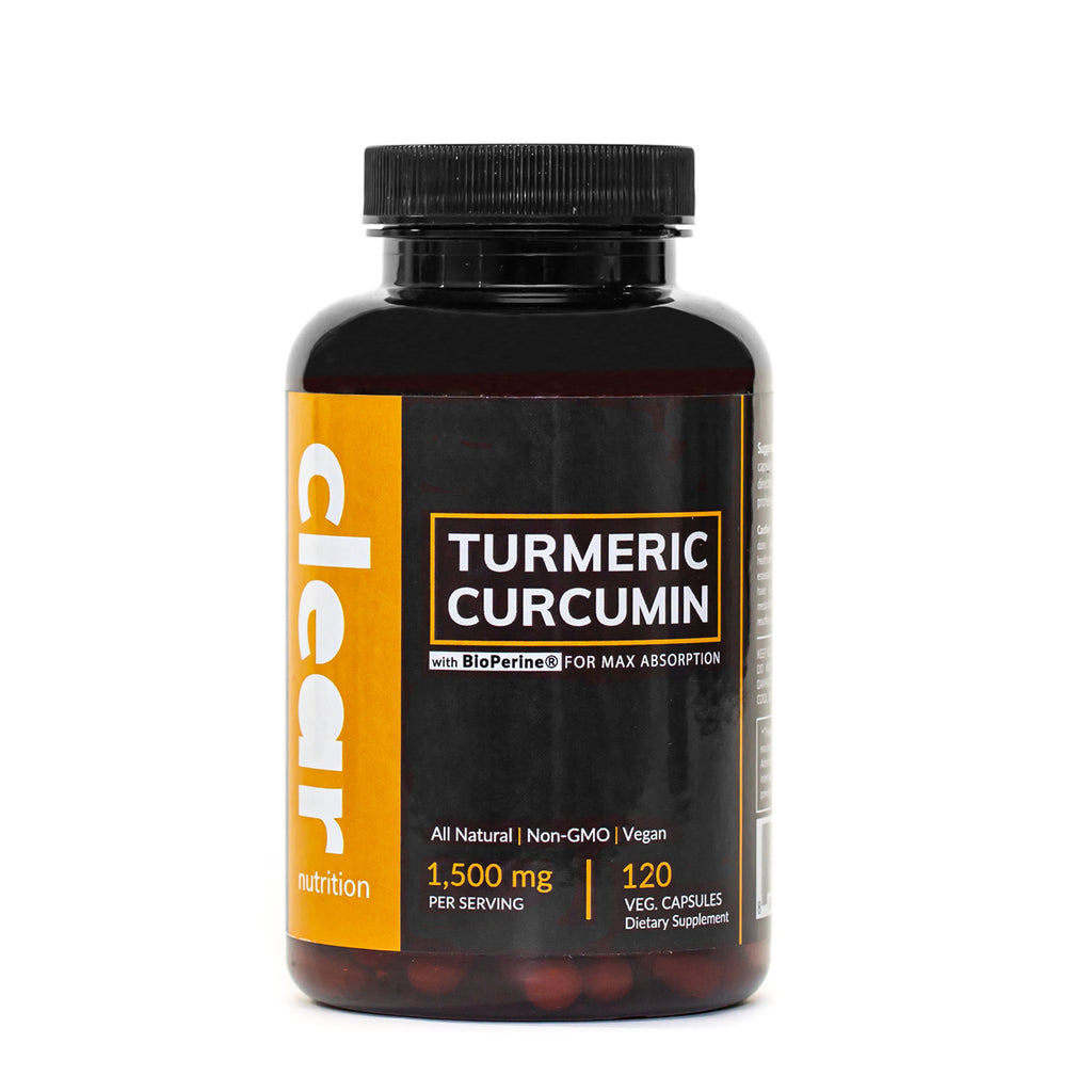 Turmeric Curcumin Supplement Capsules with Black Pepper (BioPerine for Maximum Absorption) Made with 95% Curcuminoids & Organic Turmeric Root Powder, Vegan, 1,500 mg