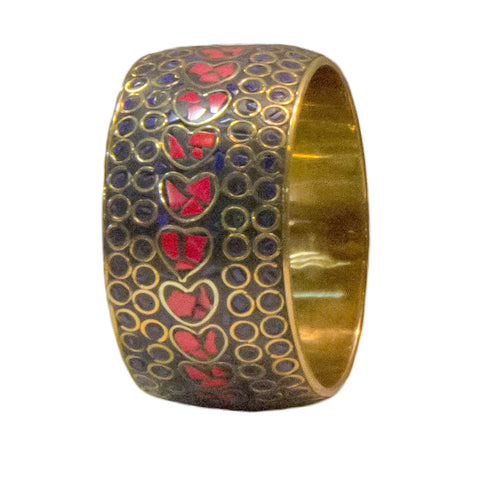 Brass Bangles with Inlay Work - Exquisite Shop - 1