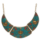 Brass Necklace with inlay work - Exquisite Shop - 10
