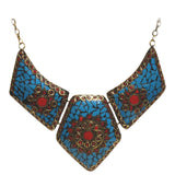 Brass Necklace with inlay work - Exquisite Shop - 2