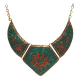 Brass Necklace with inlay work - Exquisite Shop - 3