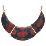 Brass Necklace with inlay work - Exquisite Shop - 5